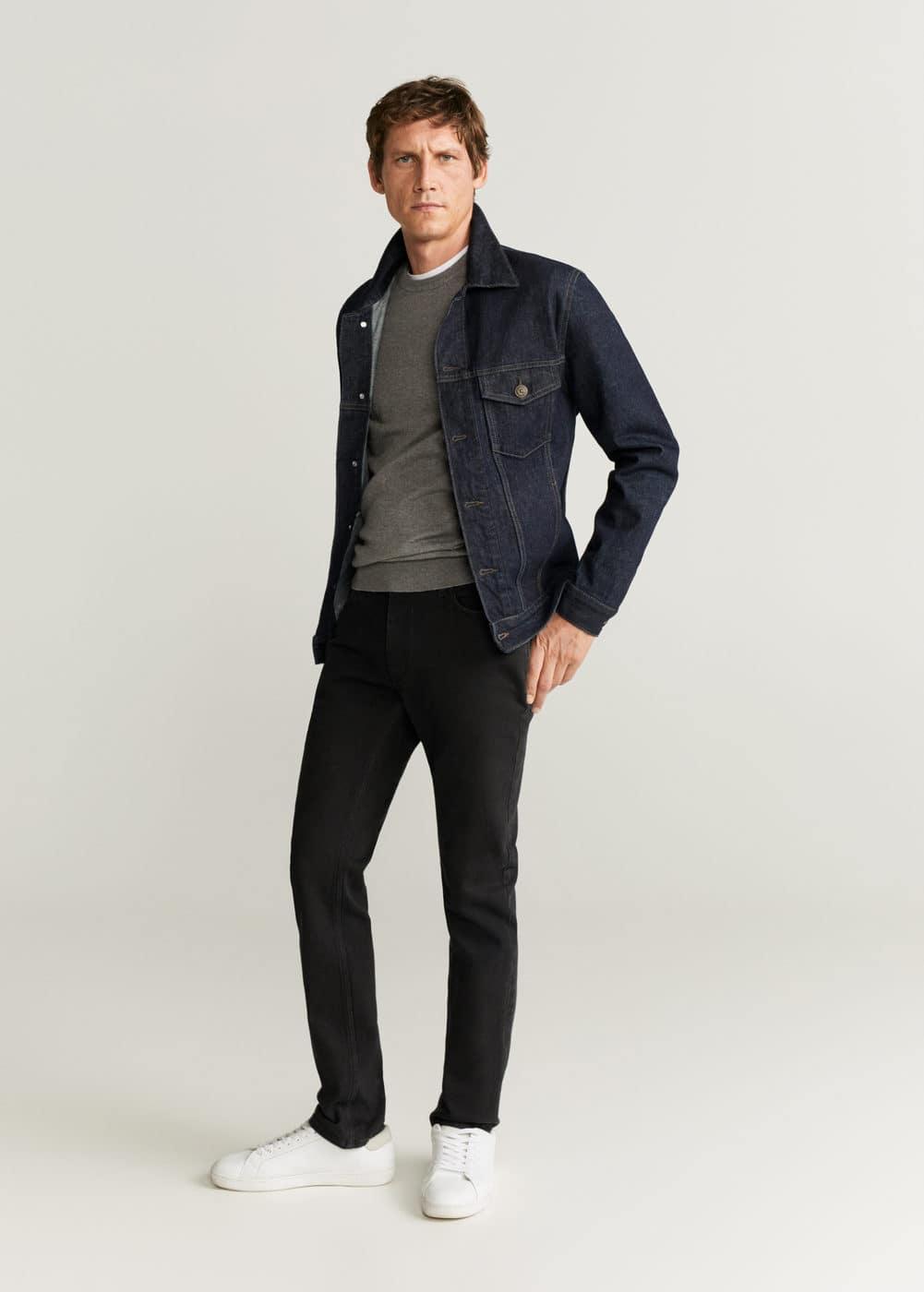 h-jan6:jeans jan slim fit negros