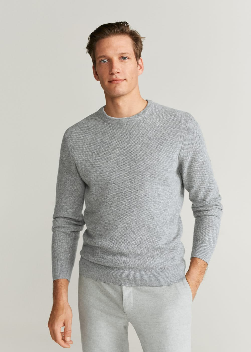 Structured Flecked Sweater by Mango