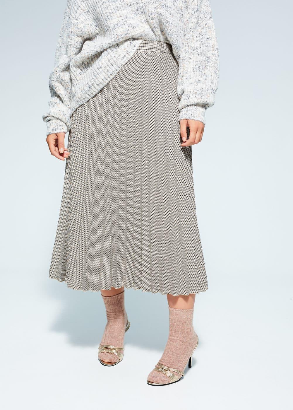 v-monsieur:falda plisada estampada