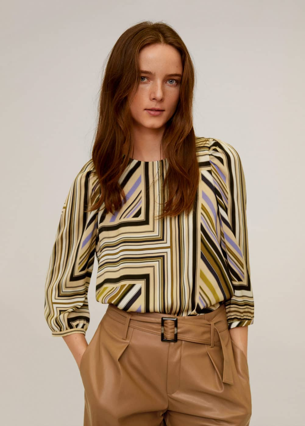 m-leonor2:blusa rayas manga abullonada
