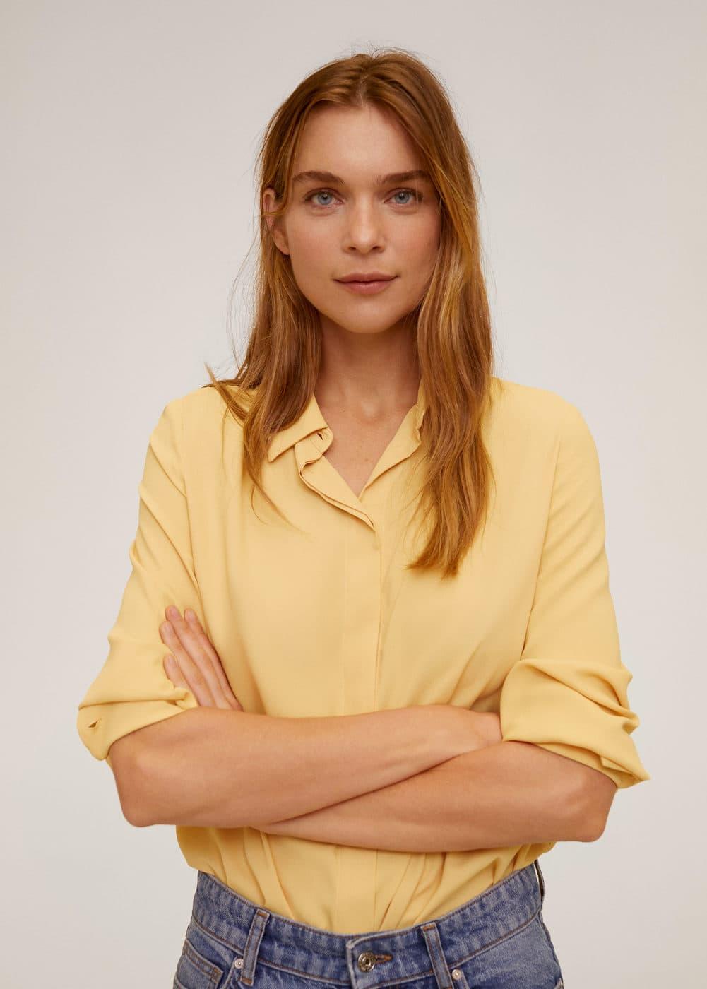 Струящаяся рубашка -  Женская | Mango МАНГО Россия (Российская Федерация)