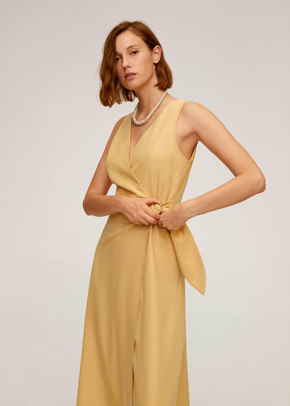 m-cala:vestido cruzado modal