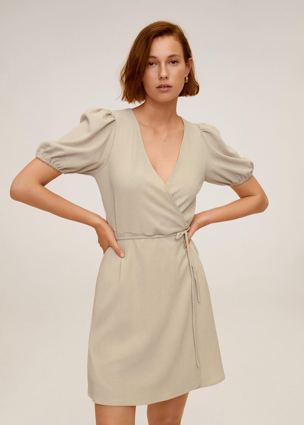 m-yute:vestido cruzado lazo