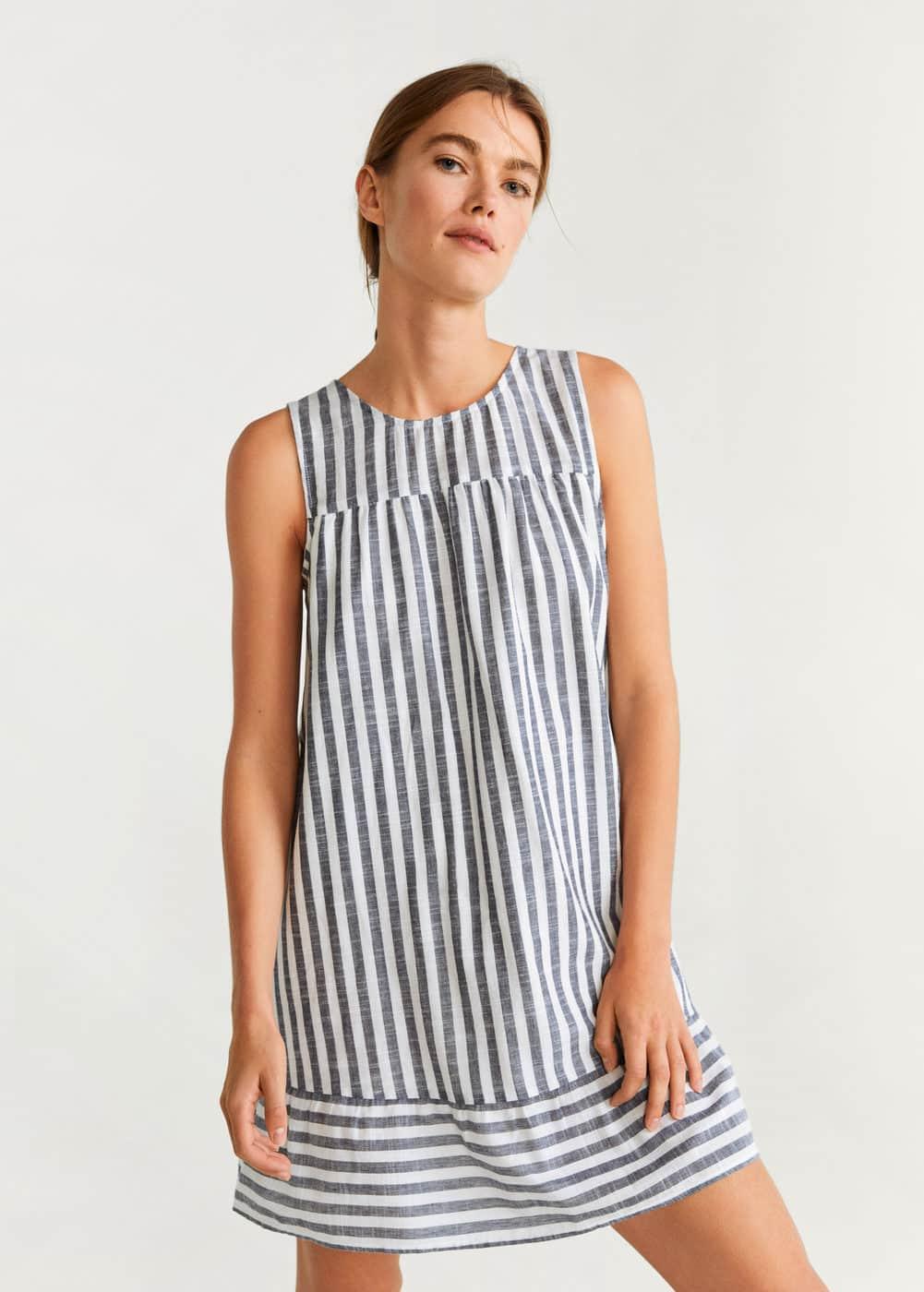 m-monet-h:vestido algodon rayas