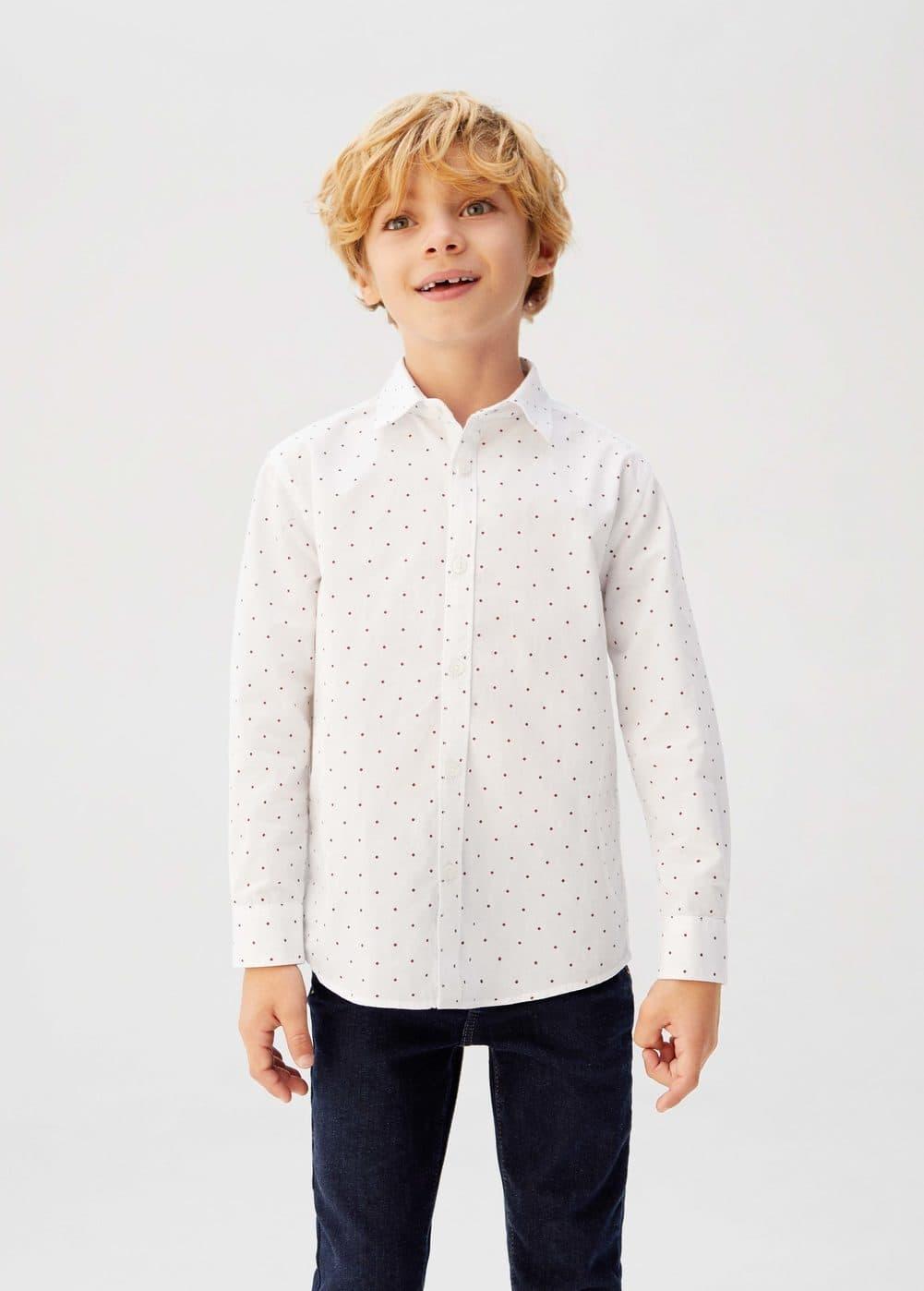 o-topo:camisa estampado lunares