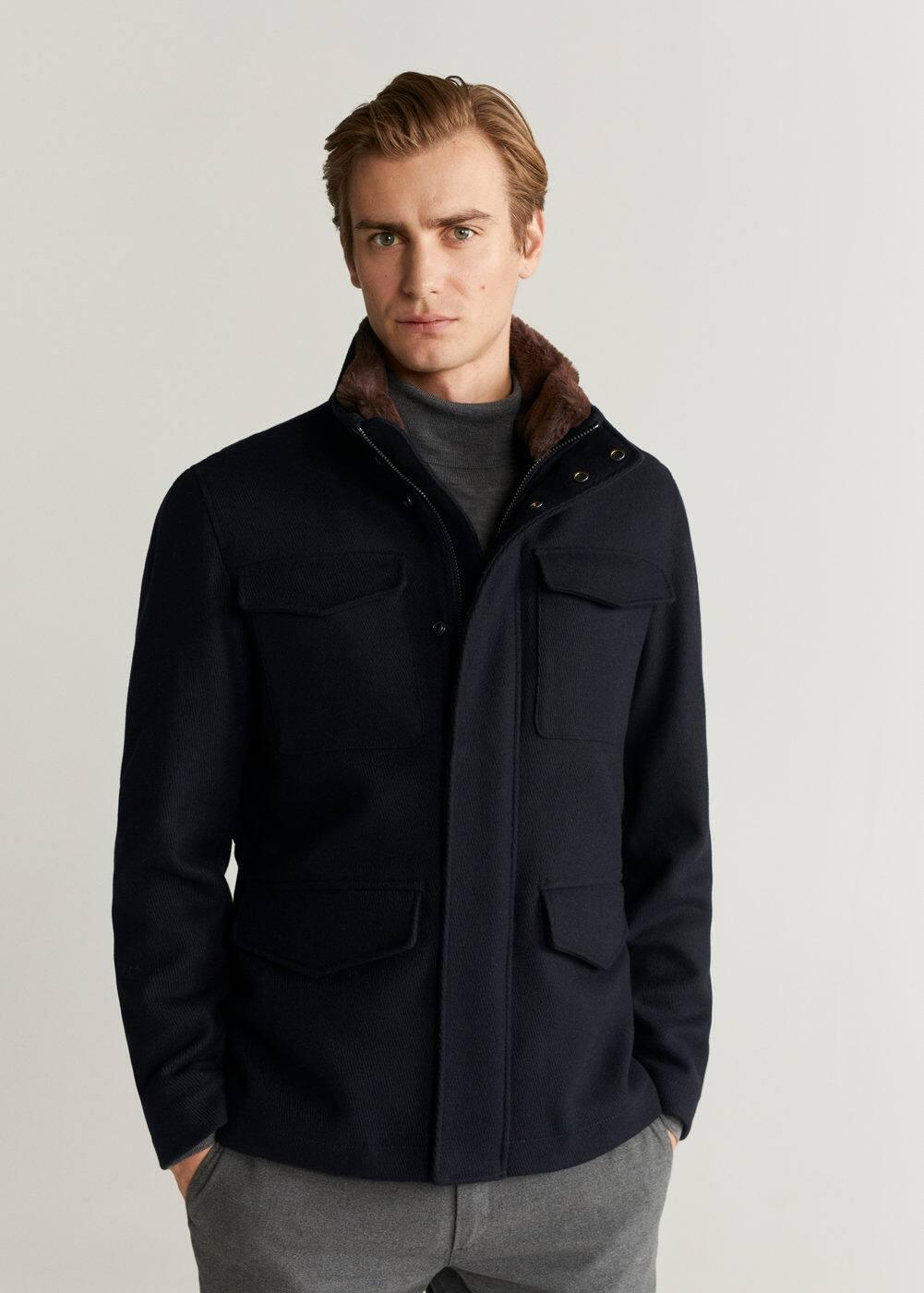 Faux Fur Lining Jacket by Mango