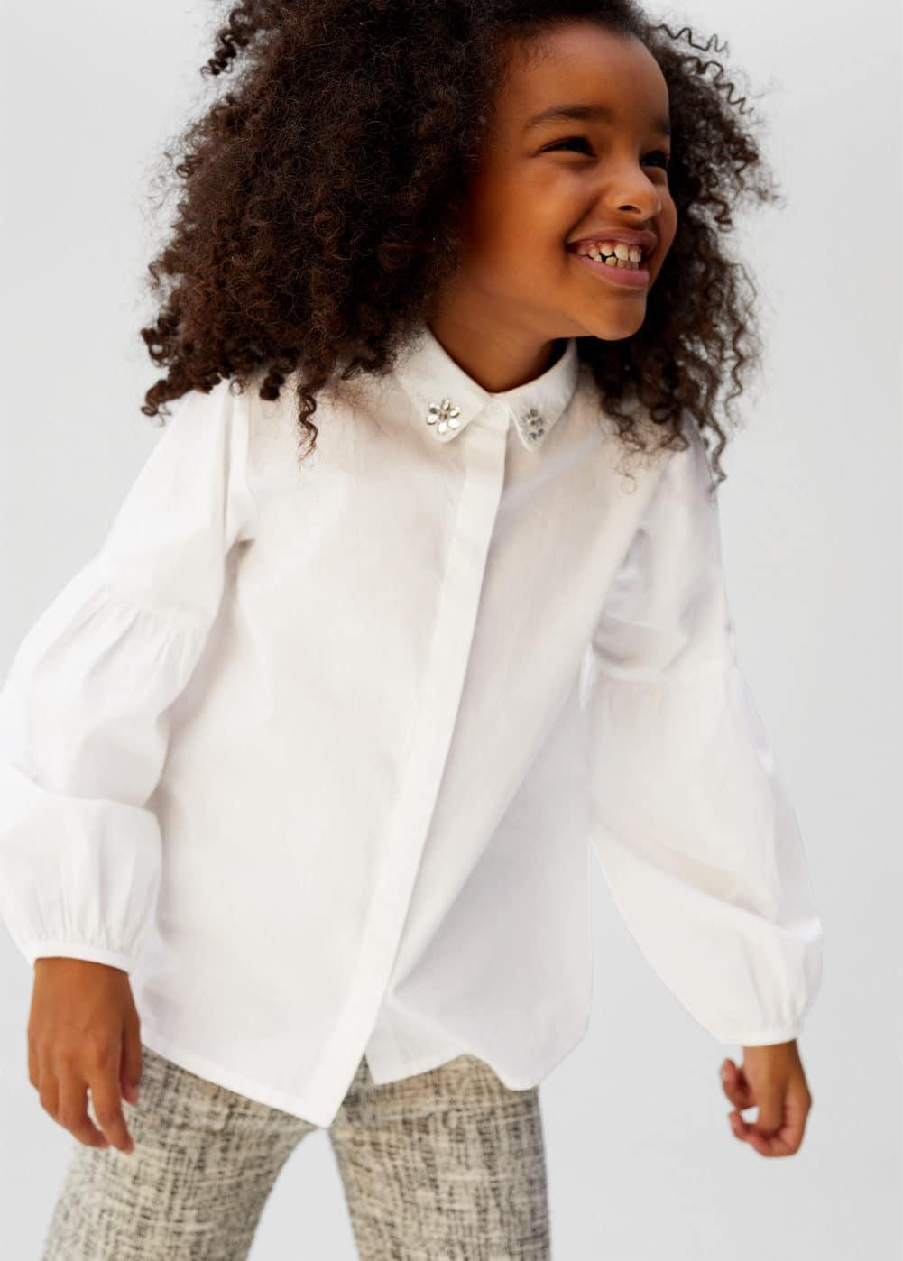 a-nil:camisa fluida apliques cuello
