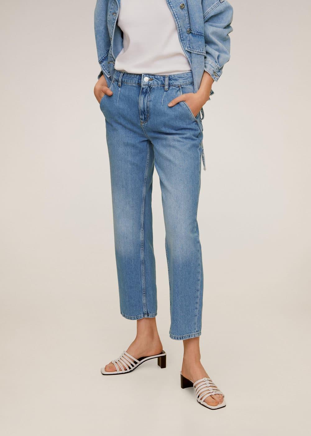 m-chino:jeans pinzas crop
