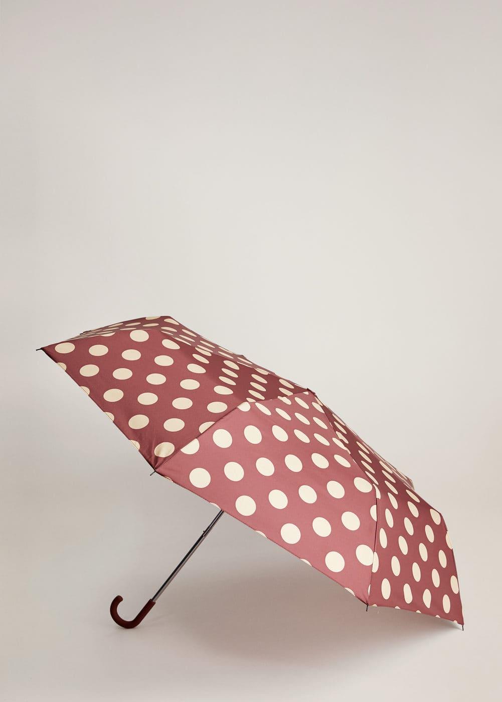 m-buckle:paraguas plegable lunares