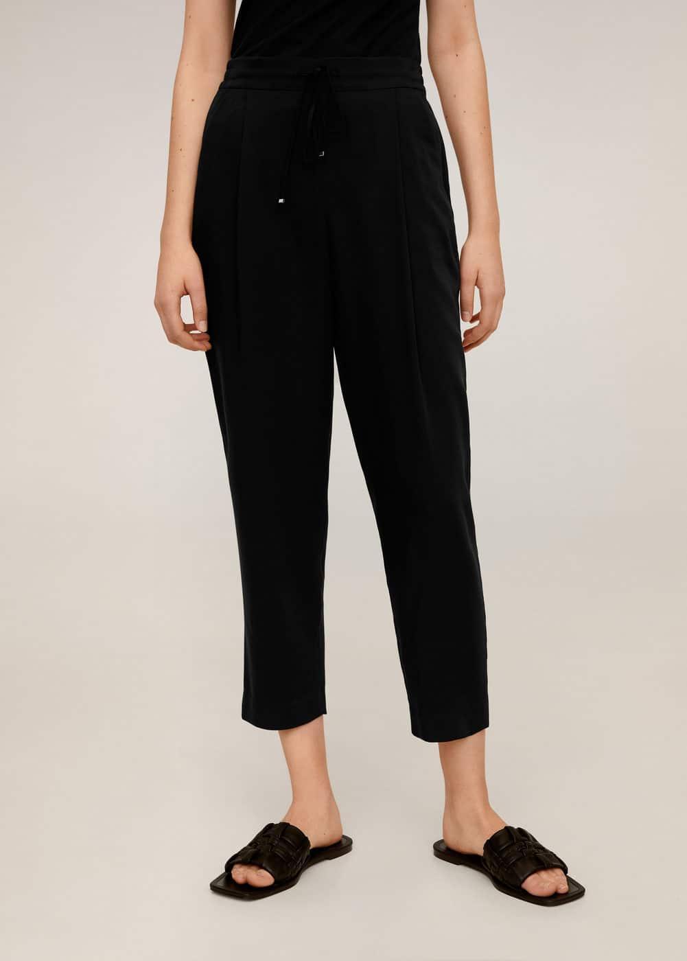 m-fluido:pantalon traje cordones