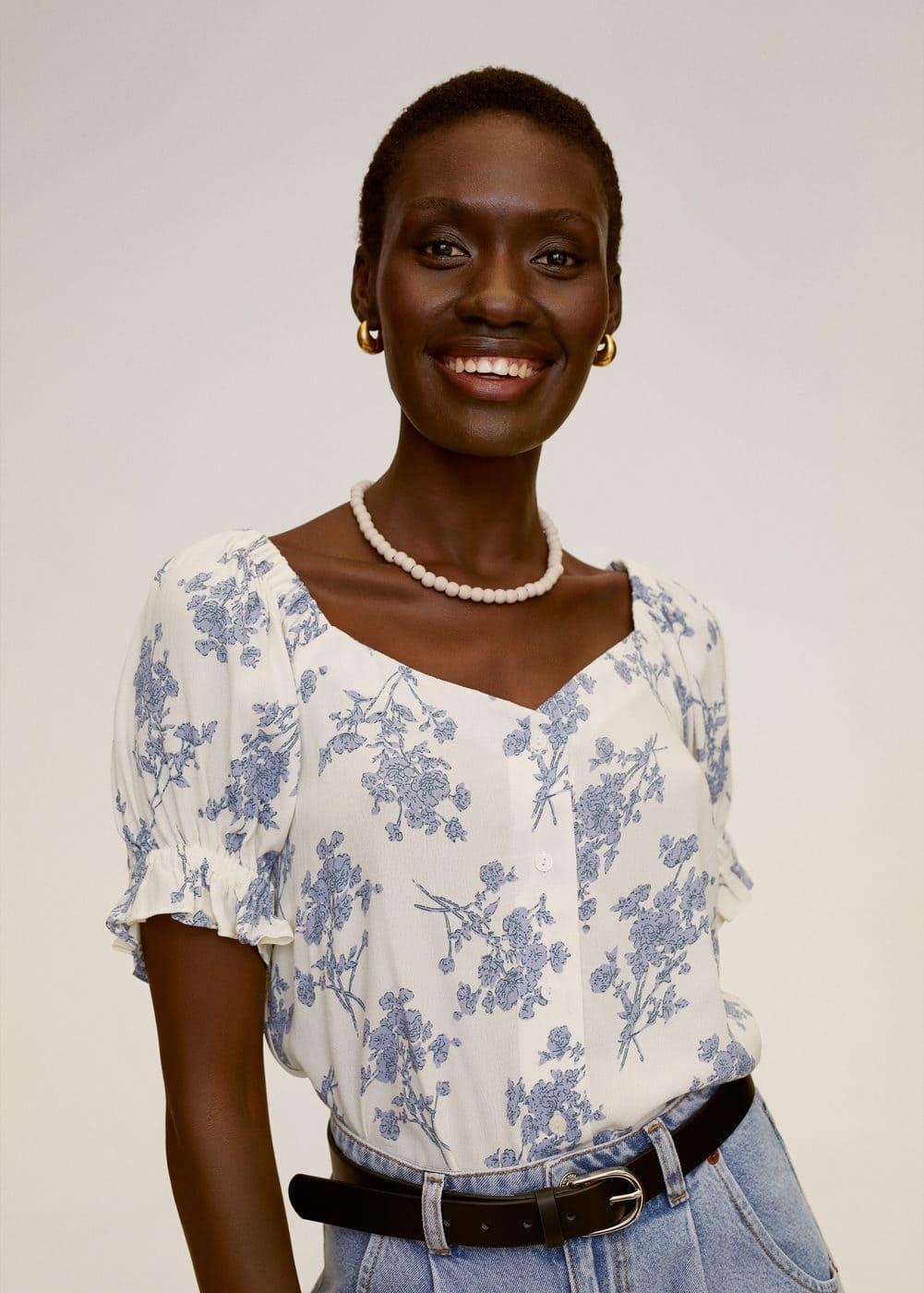 m-sere:blusa estampado floral