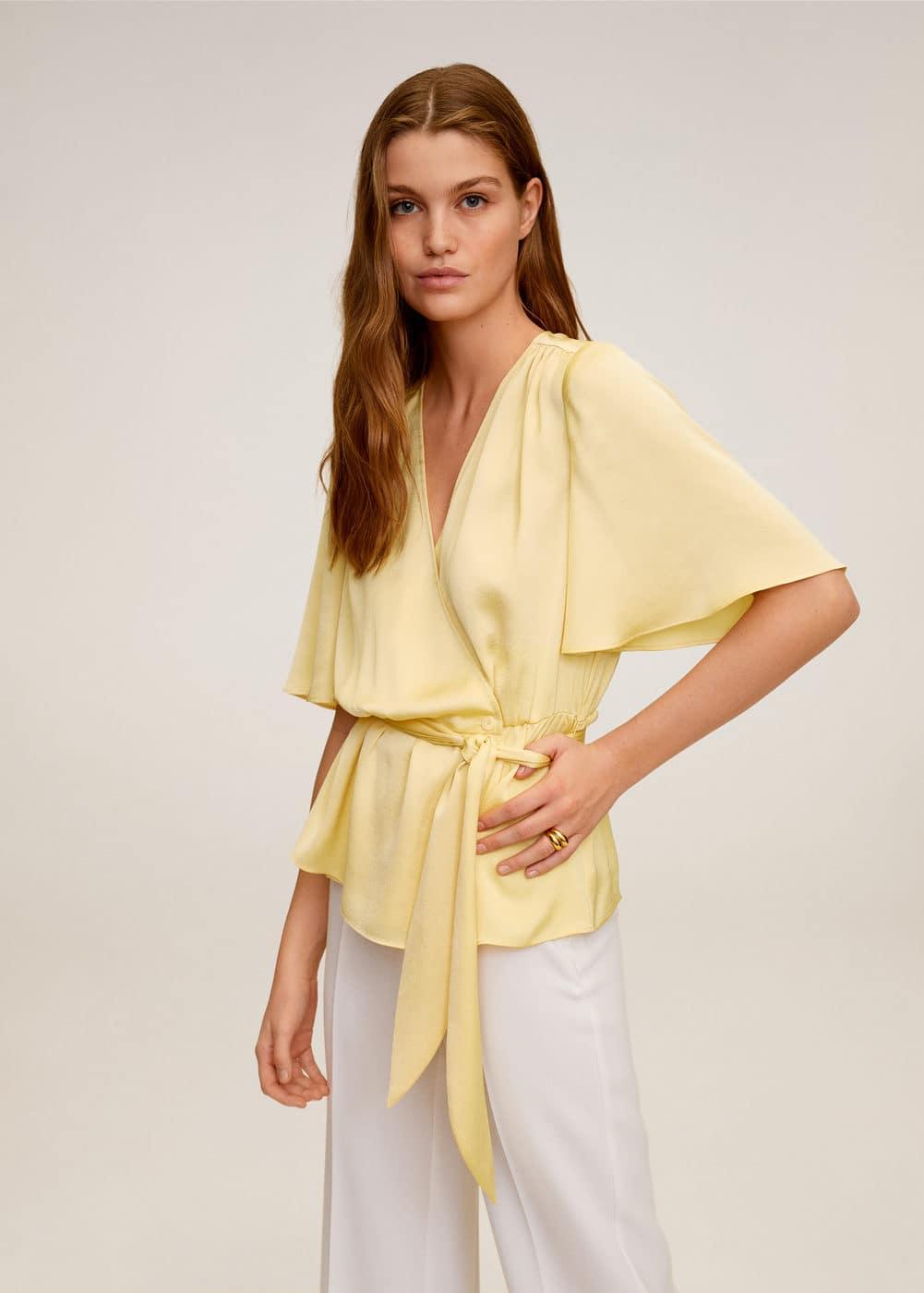m-gus:blusa escote cruzado