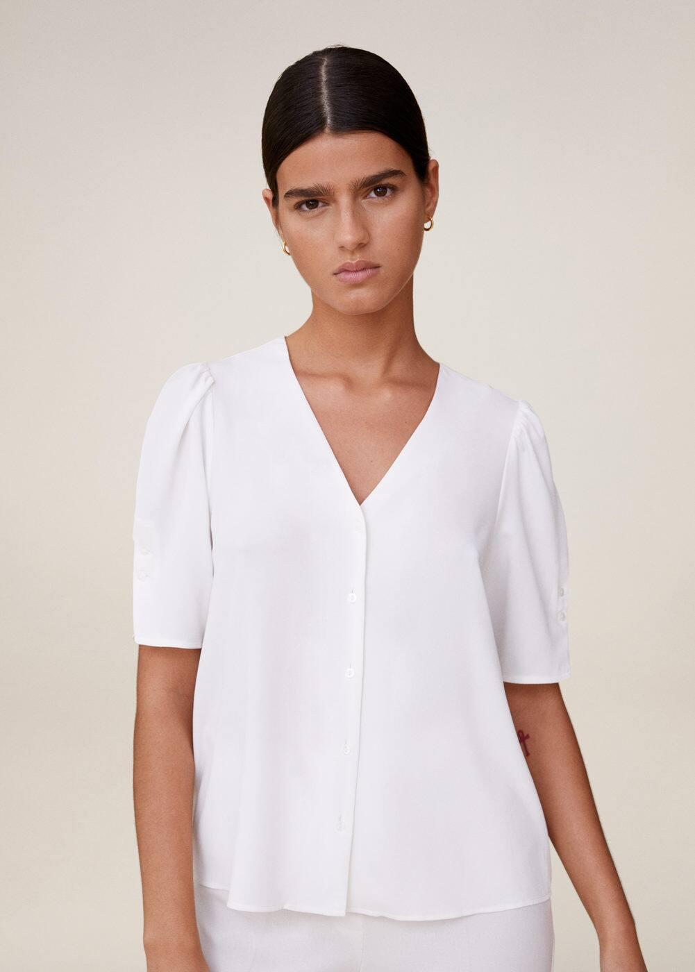 m-bass:blusa mangas abullonadas