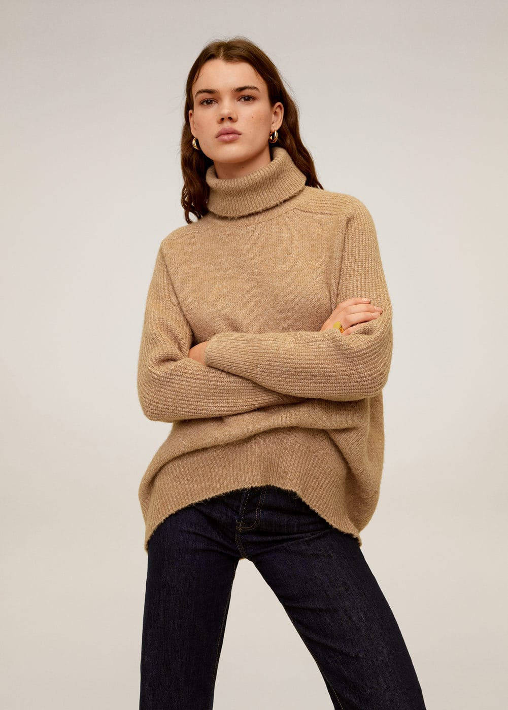 Knitted Turtleneck Dress by Mango