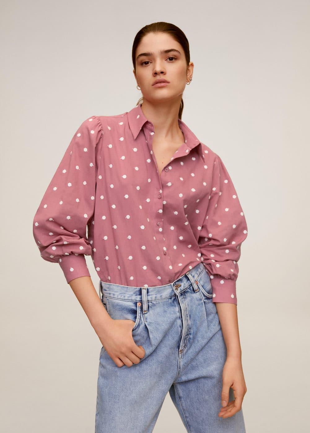 m-topu:camisa algodon bordada