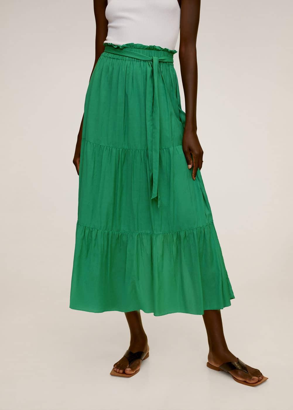 m-soli:falda midi lazo