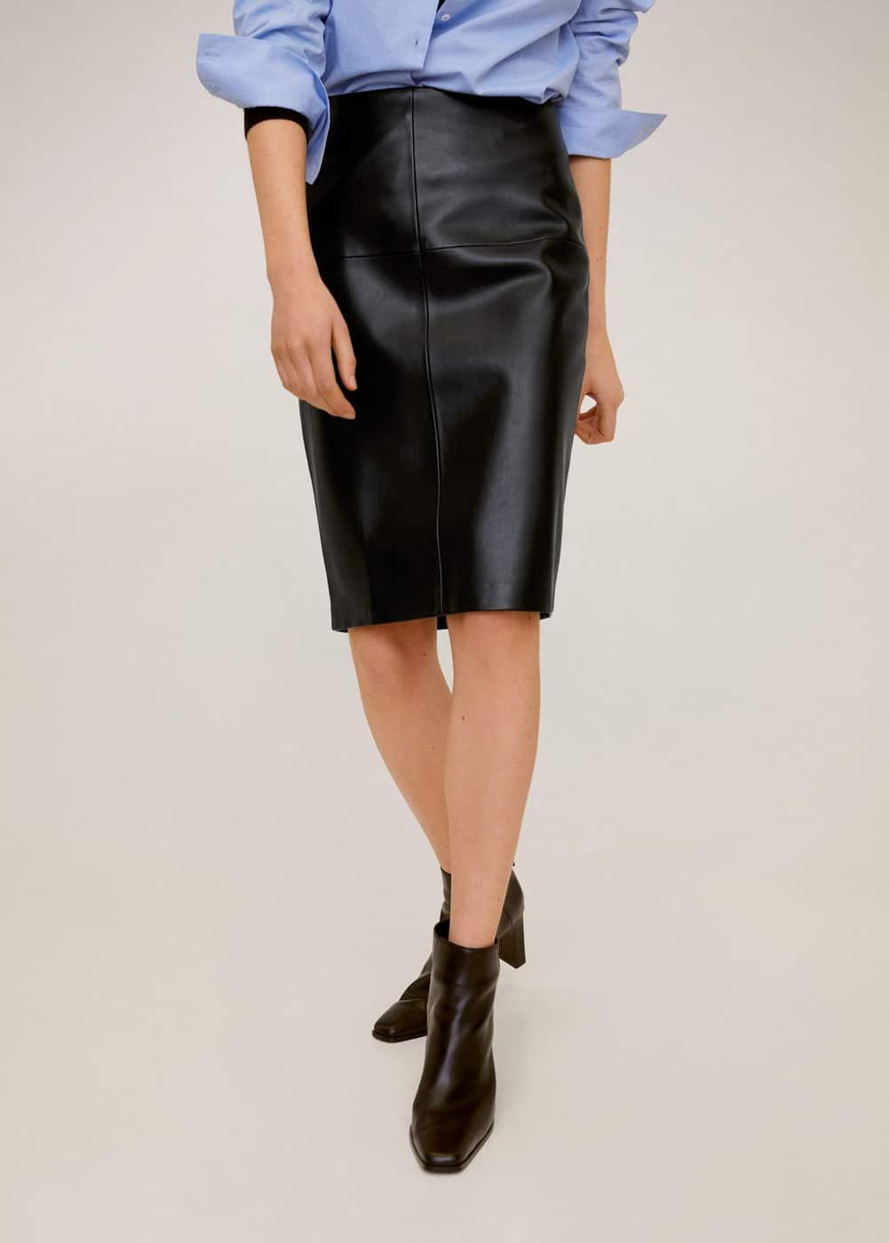 m-pencil:falda lapiz costuras