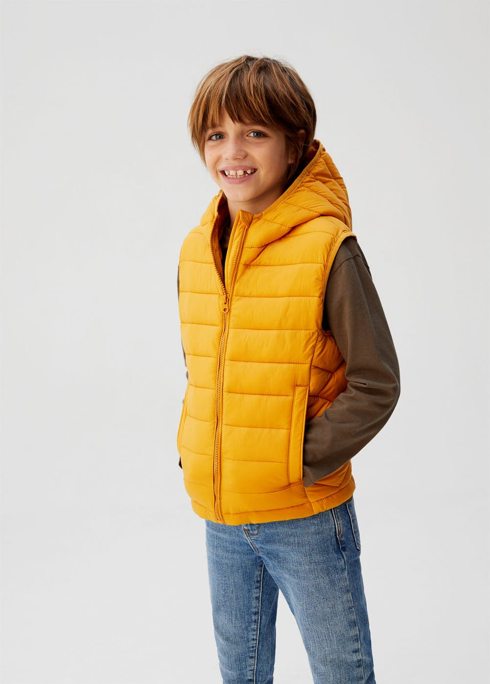 o-unicovp6:chaleco acolchado impermeable capucha
