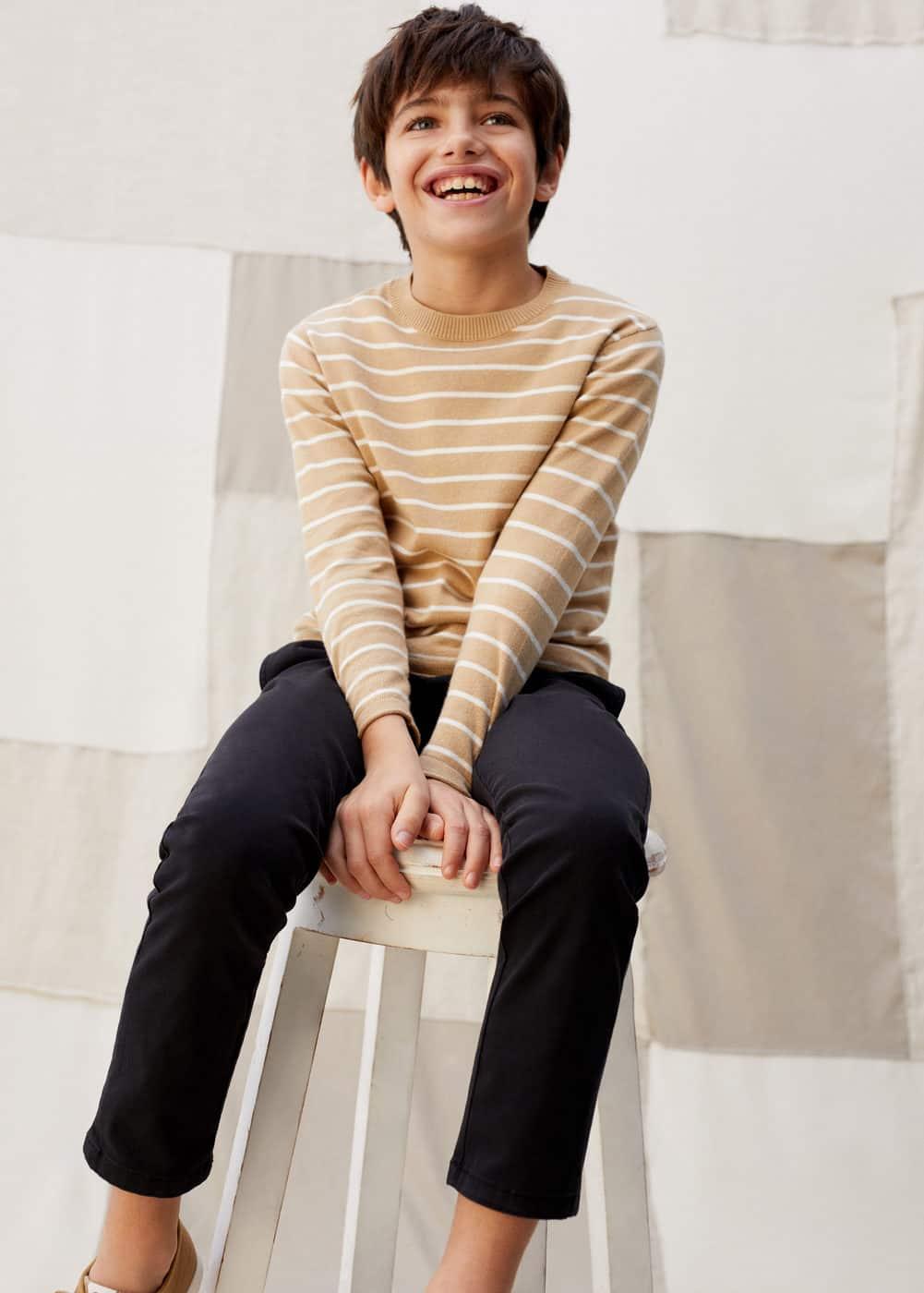 o-lucas:jersey algodon organico rayas