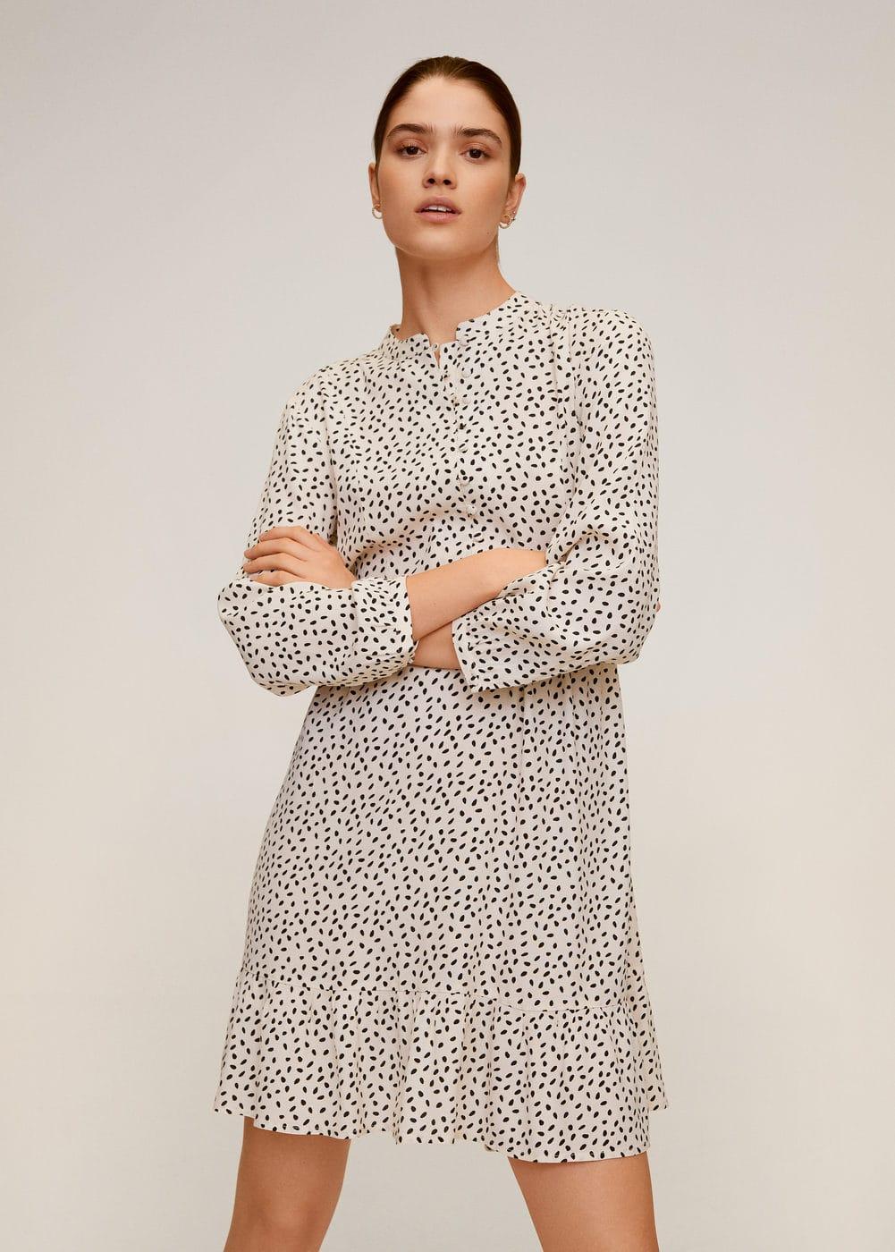 m-luni:vestido estampado corto