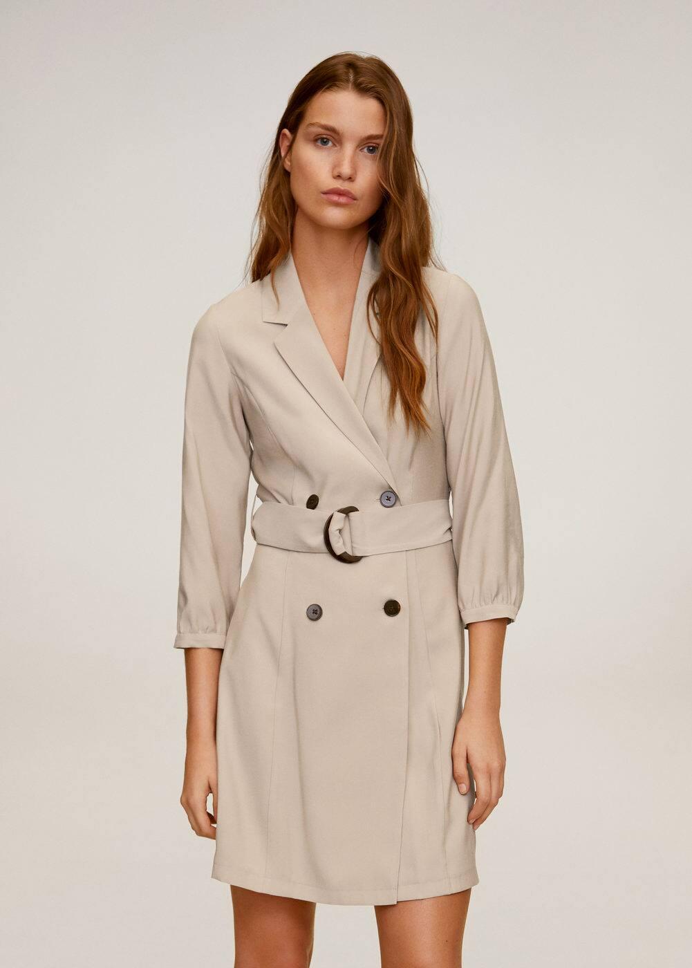 m-tuxedo:vestido cruzado botones