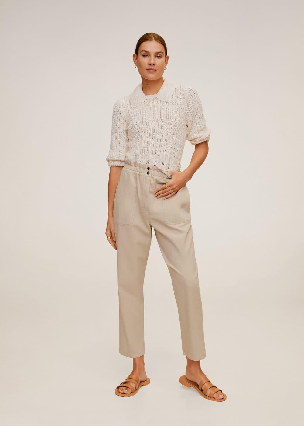 m-urban:jeans slouchy cintura elastica