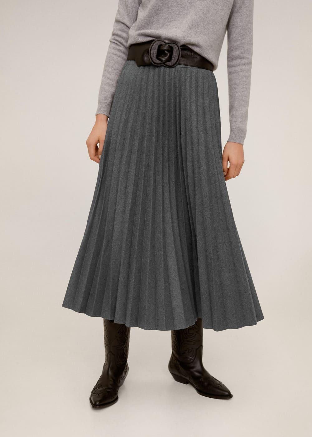 m-wooly:falda midi plisada