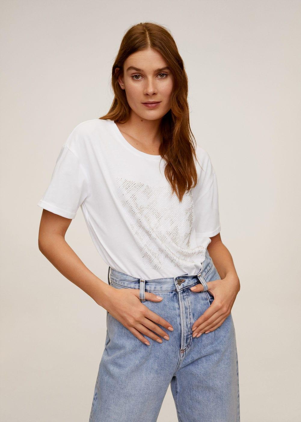 m-shine:camiseta algodon lentejuelas