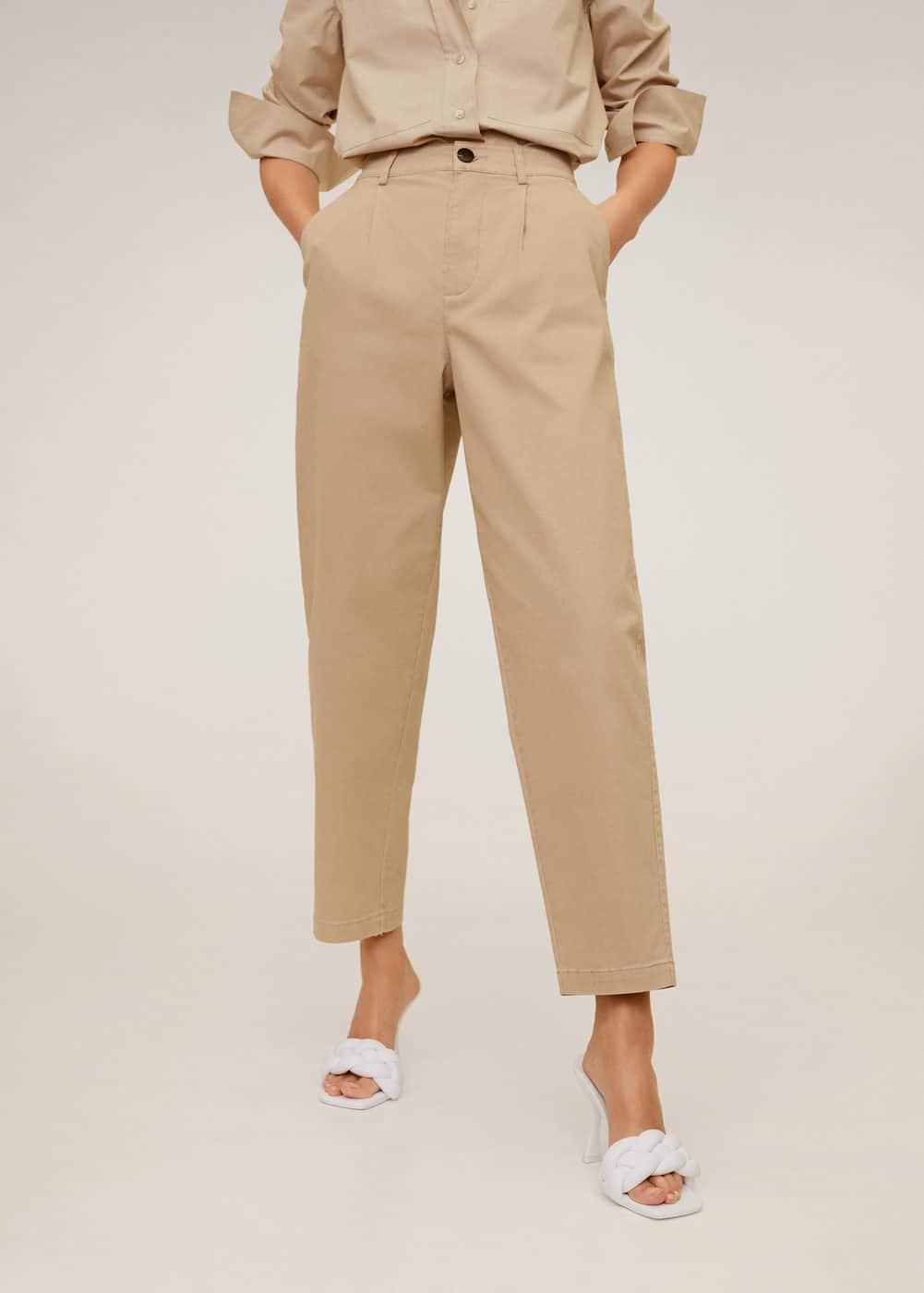 m-berlina:pantalon relaxed fit crop