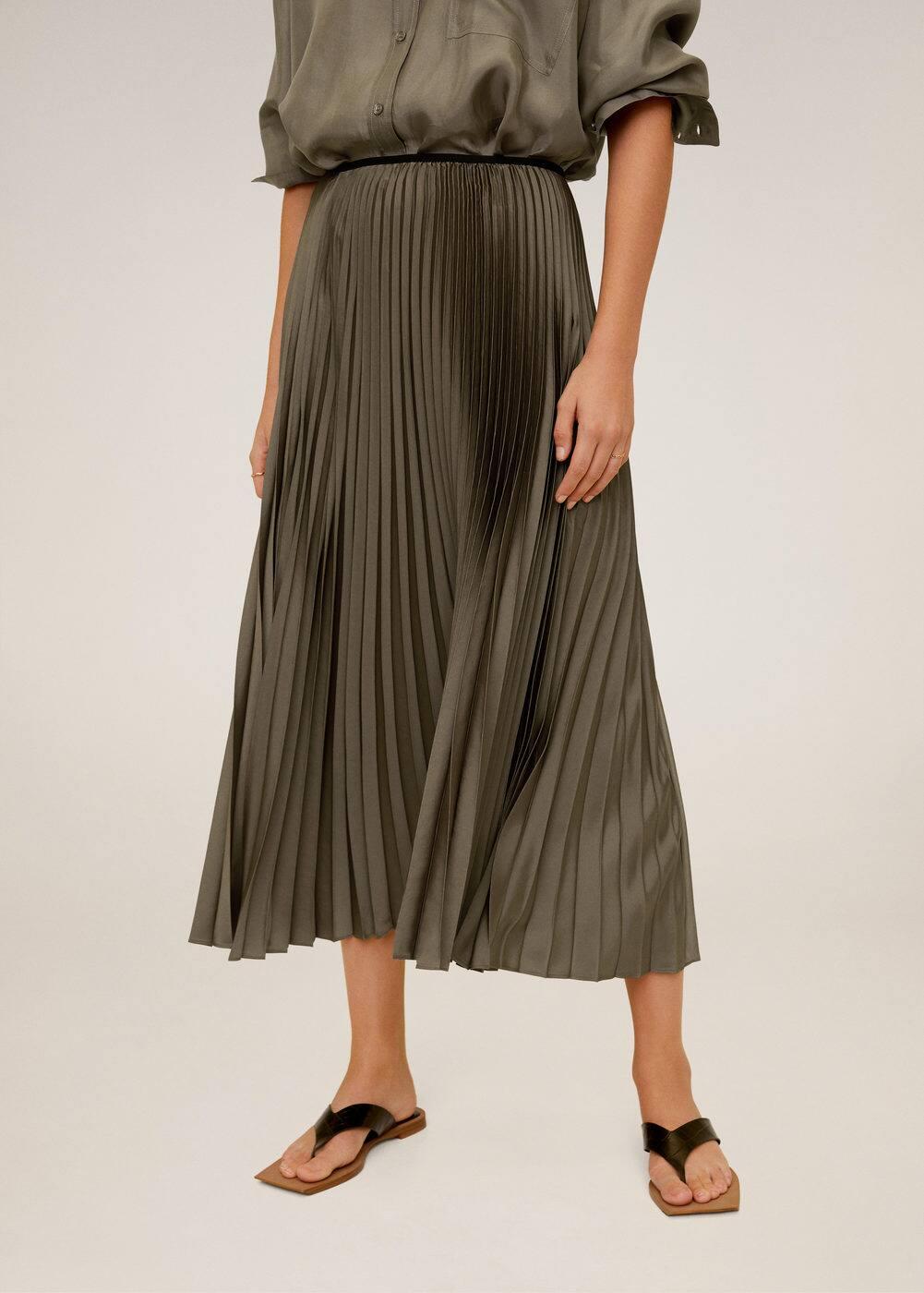 m-plisado:falda midi plisada