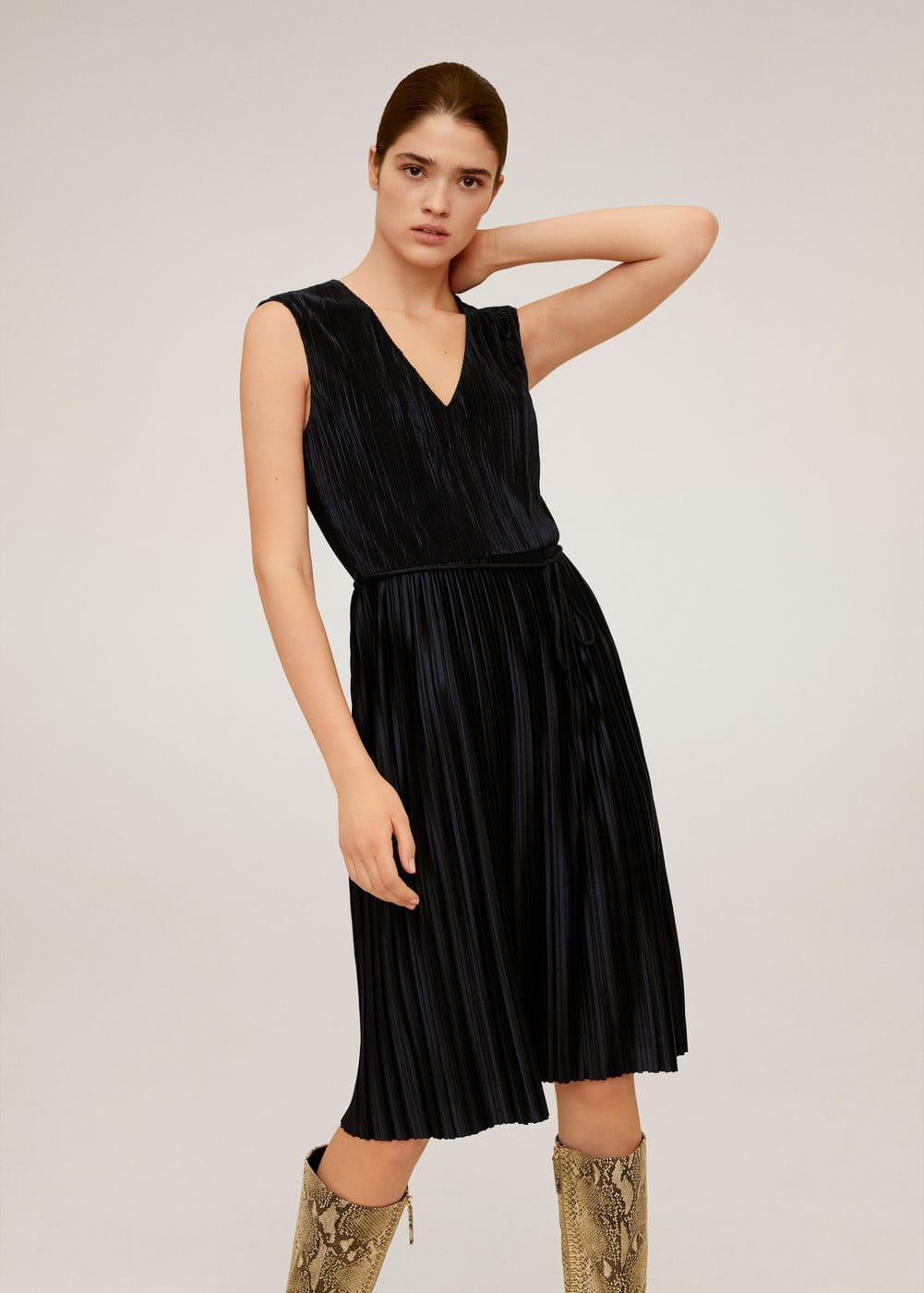 m-plet:vestido plisado