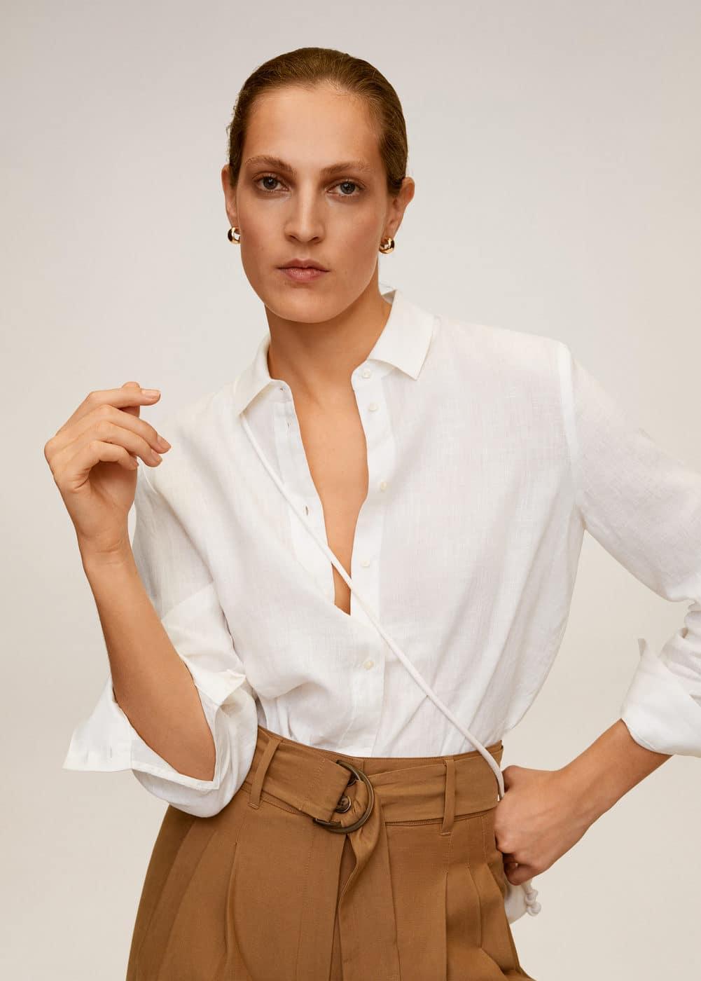 m-lino:camisa 100% lino