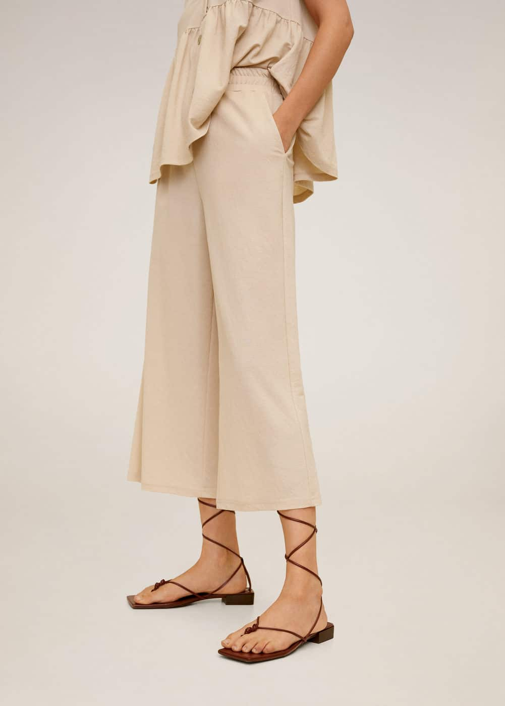 m-thalia:pantalon culotte fluido