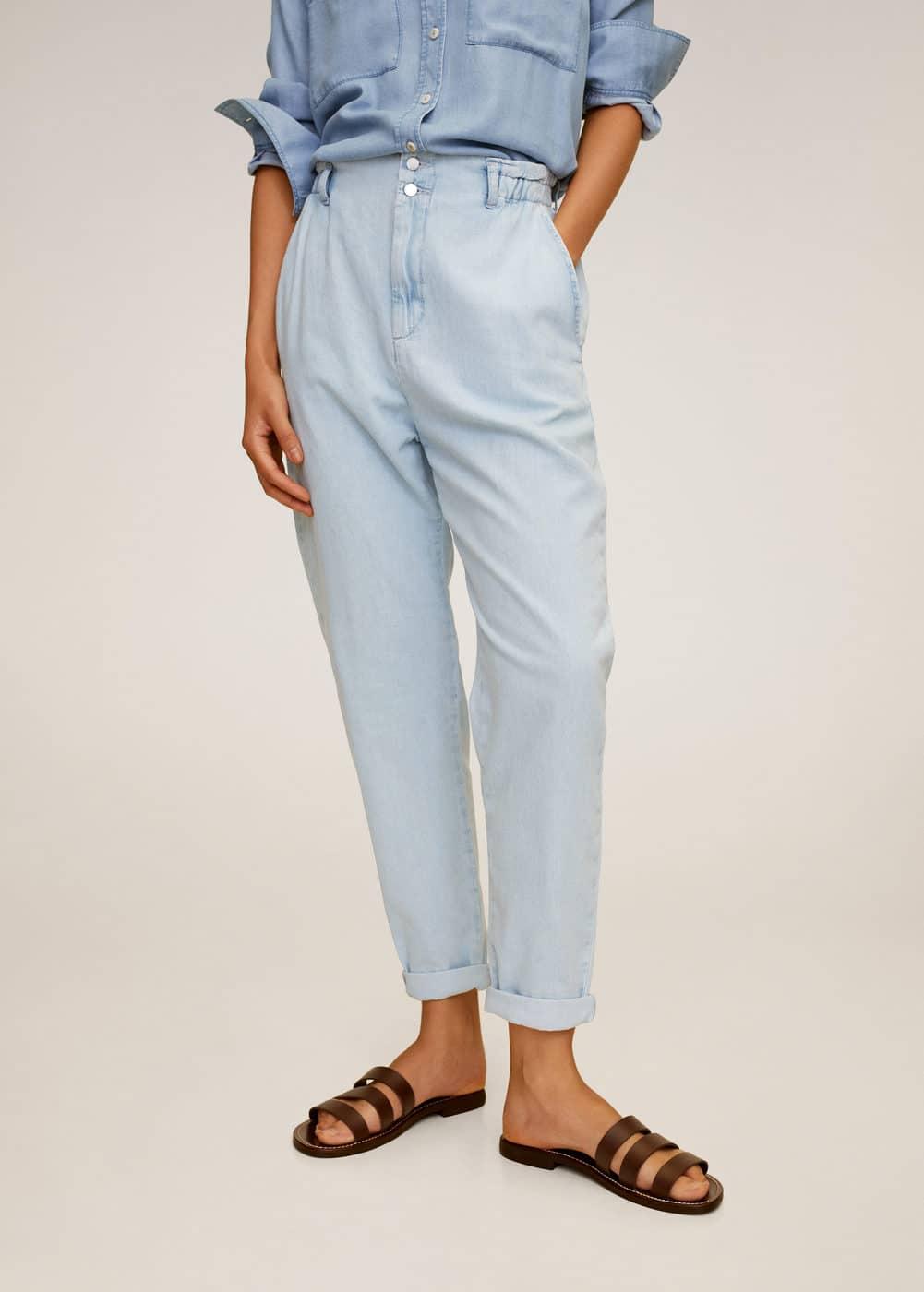 m-patricia:jeans slouchy cintura elastica