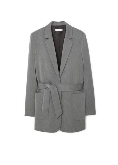 Mango Kemerli kalıplı blazer ceket