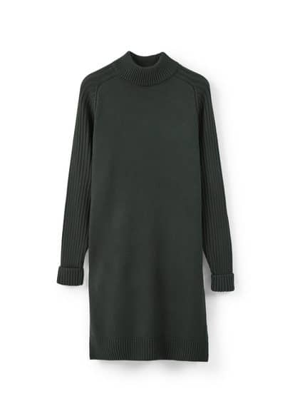 Mango Örgü shift elbise