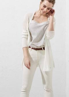Long linen cardigan - Women | OUTLET USA