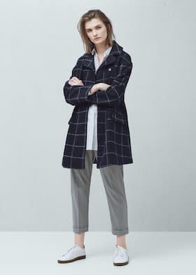97e5418dcf8ca Abrigo lana bolsillos - Mujer