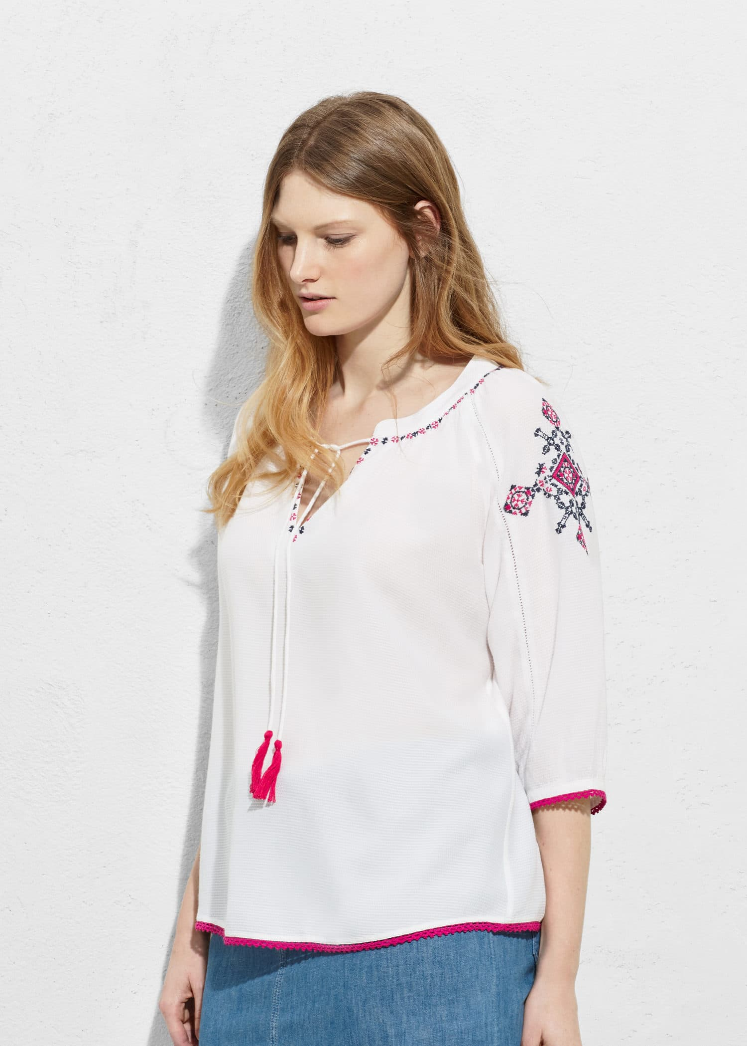 88ee1a65f3dbdf Embroidered boho blouse - Plus sizes