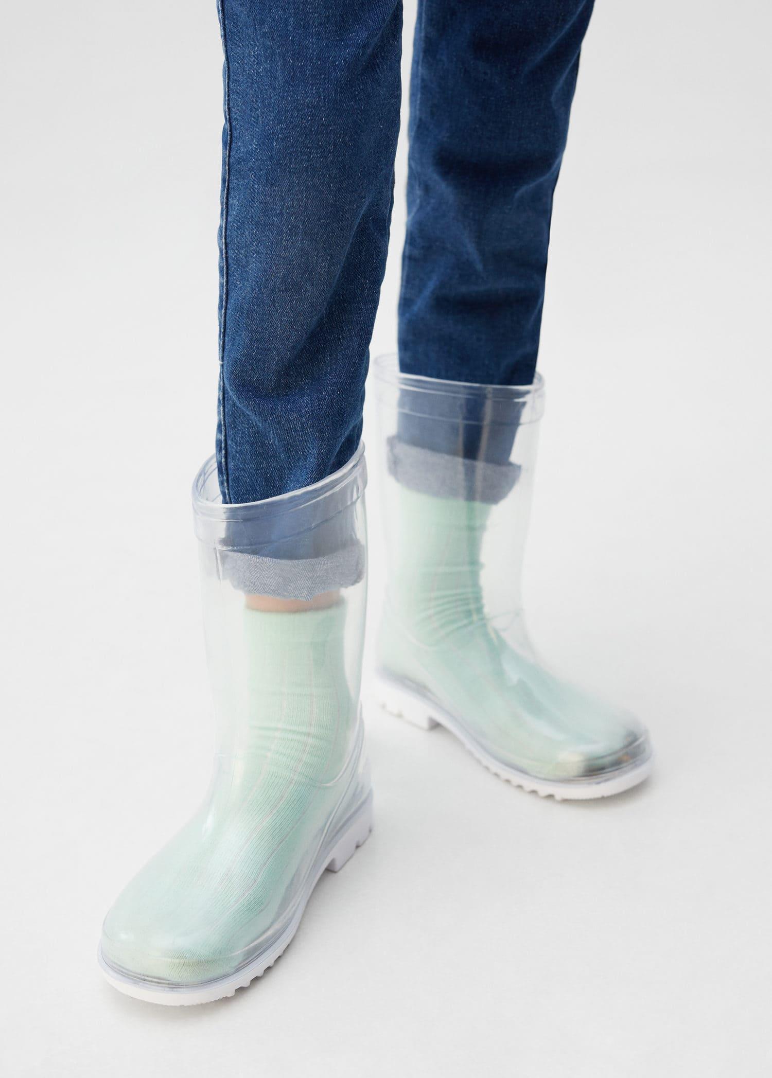 Mango Dam Sole Sock Vit Stövlar På Nätet
