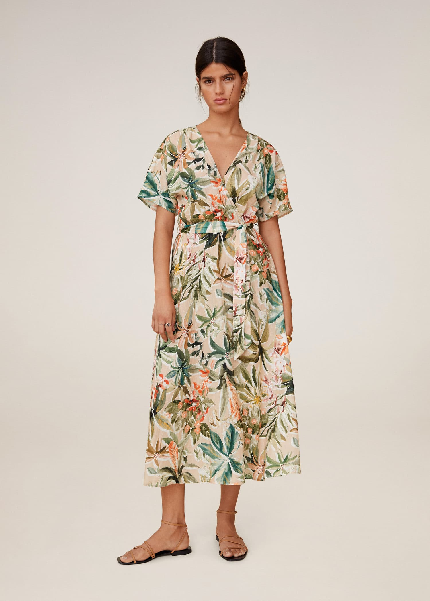 Women/'s Floral Long Sleeve Midi Dress Ladies Striped Belted Casual Shirt Dress