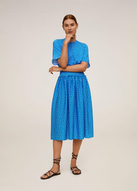 Polka dot midi dress - General plane