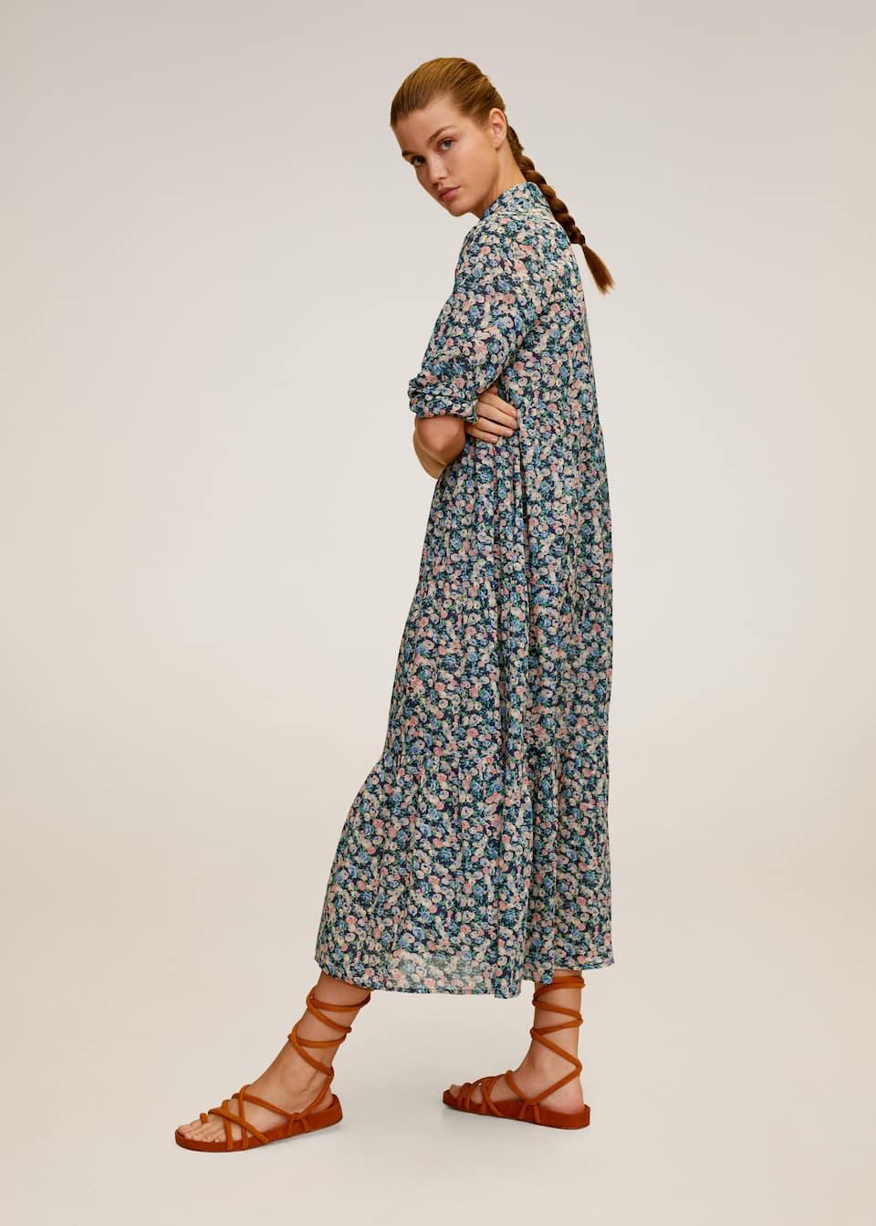 Floral print long dress - General plane