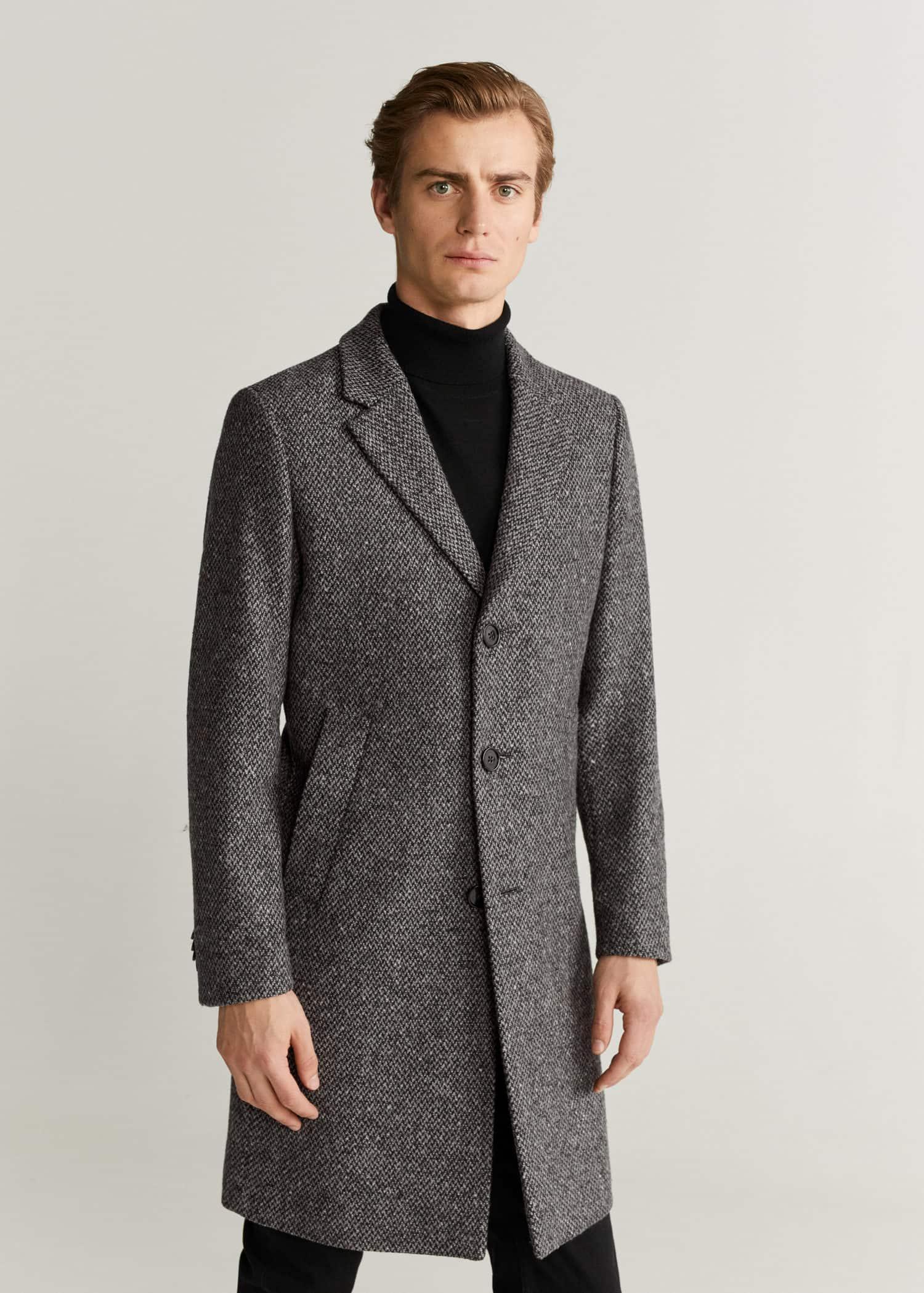 Sobretudo Tailored de lã