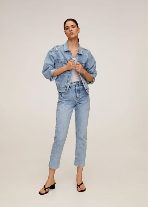 Straight crop jeans - General plane