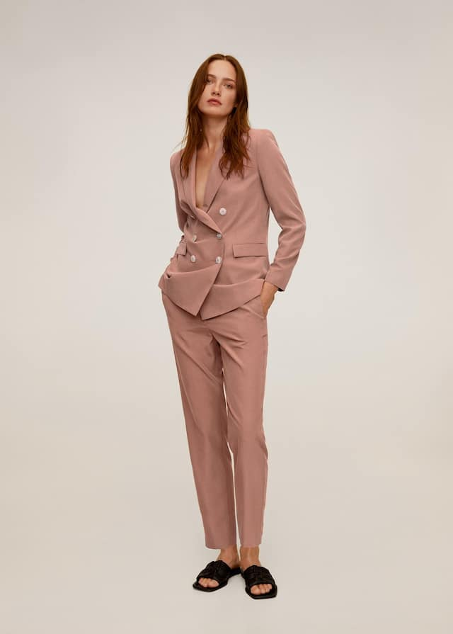 Double buttoned modal blazer