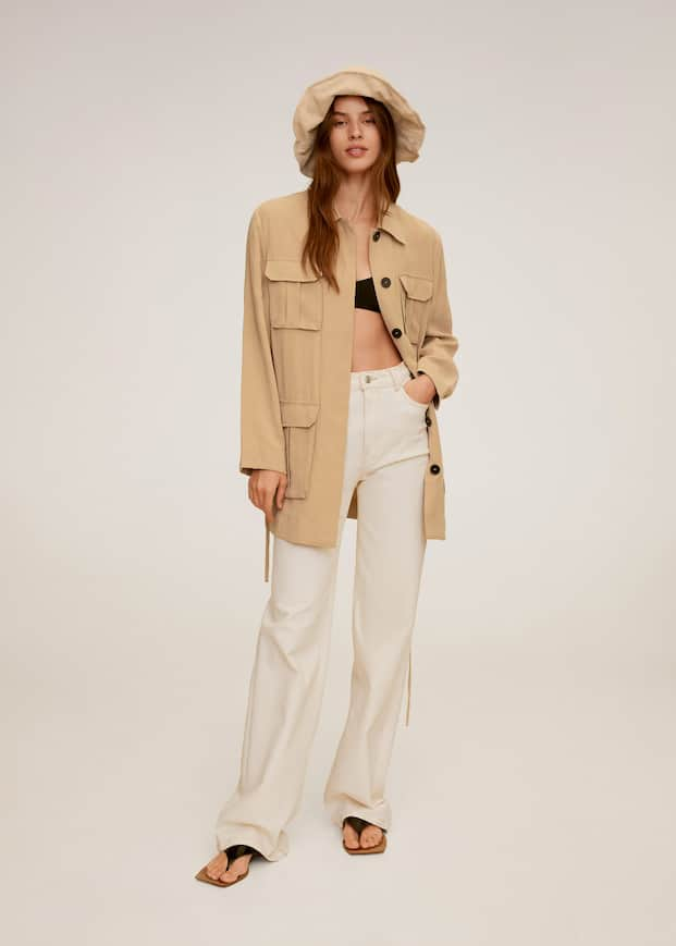 Pocket safari-style trench