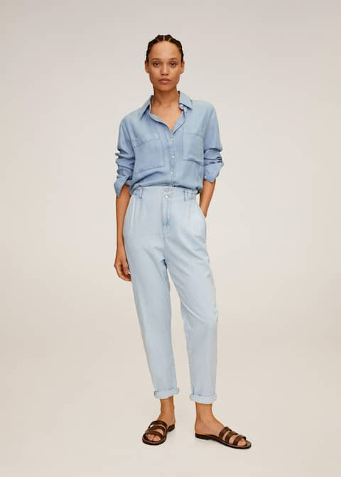 Waist straight Slouchy jeans - General plane
