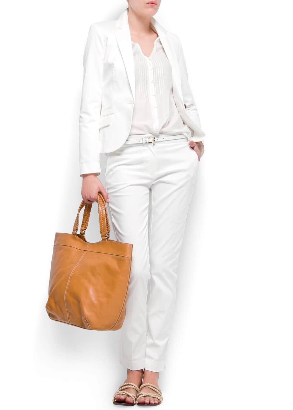 Slim-fit cotton blazer   MANGO