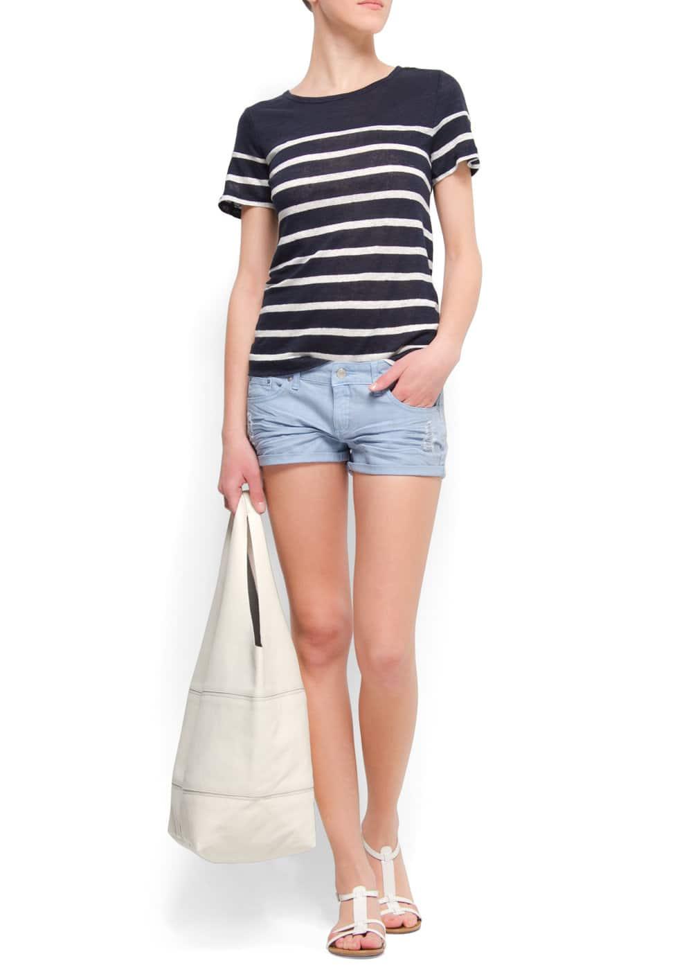 Sailor linen t-shirt   MANGO